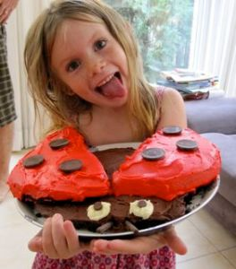 For some reason, Gigi wanted a ladybug cake this year.  She got it!