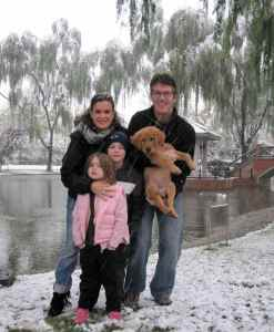 And....our first family picture in snow!  Such a fun and memorable day.