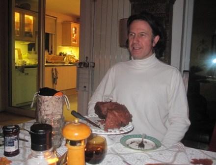 Half a Chocolate Cake and Corky!
