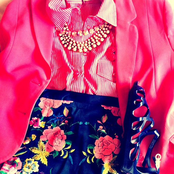 Pink, Stripes, Baubles, and Flowers