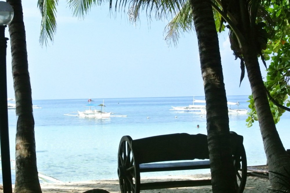 This REALLY was the view from our little cabana porch!