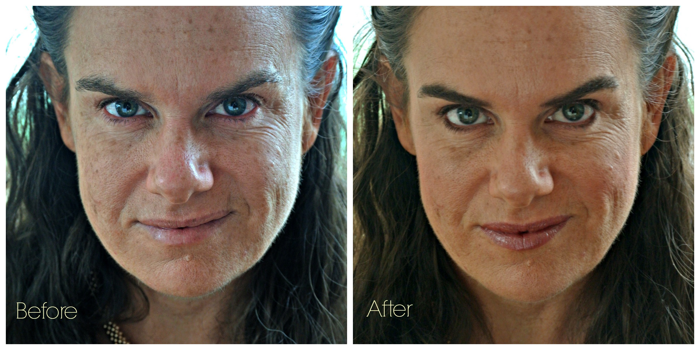No Mascara Before and After