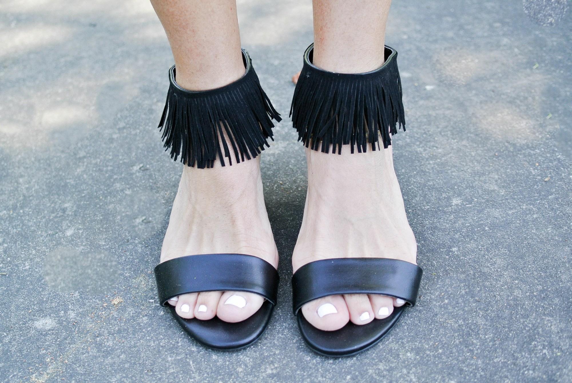 DIY Fringe Sandals 15