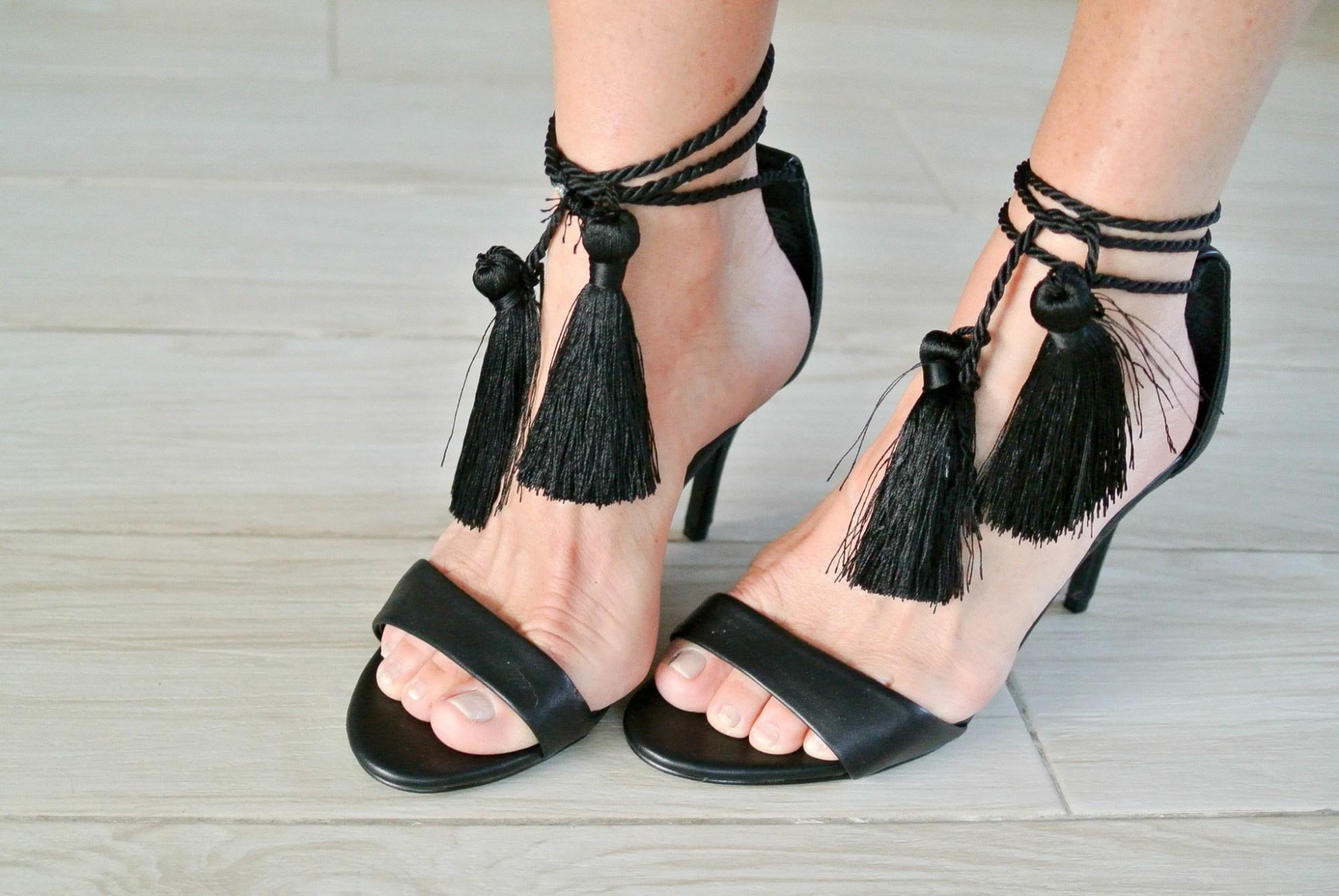 DIY Tassel Heels 6