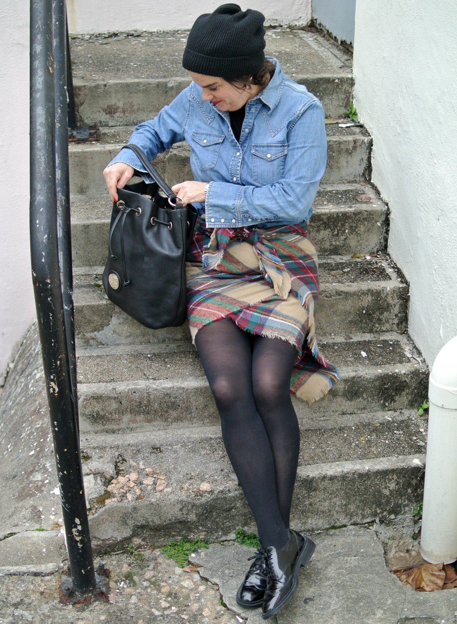 Blanket Scarf as a Skirt 3