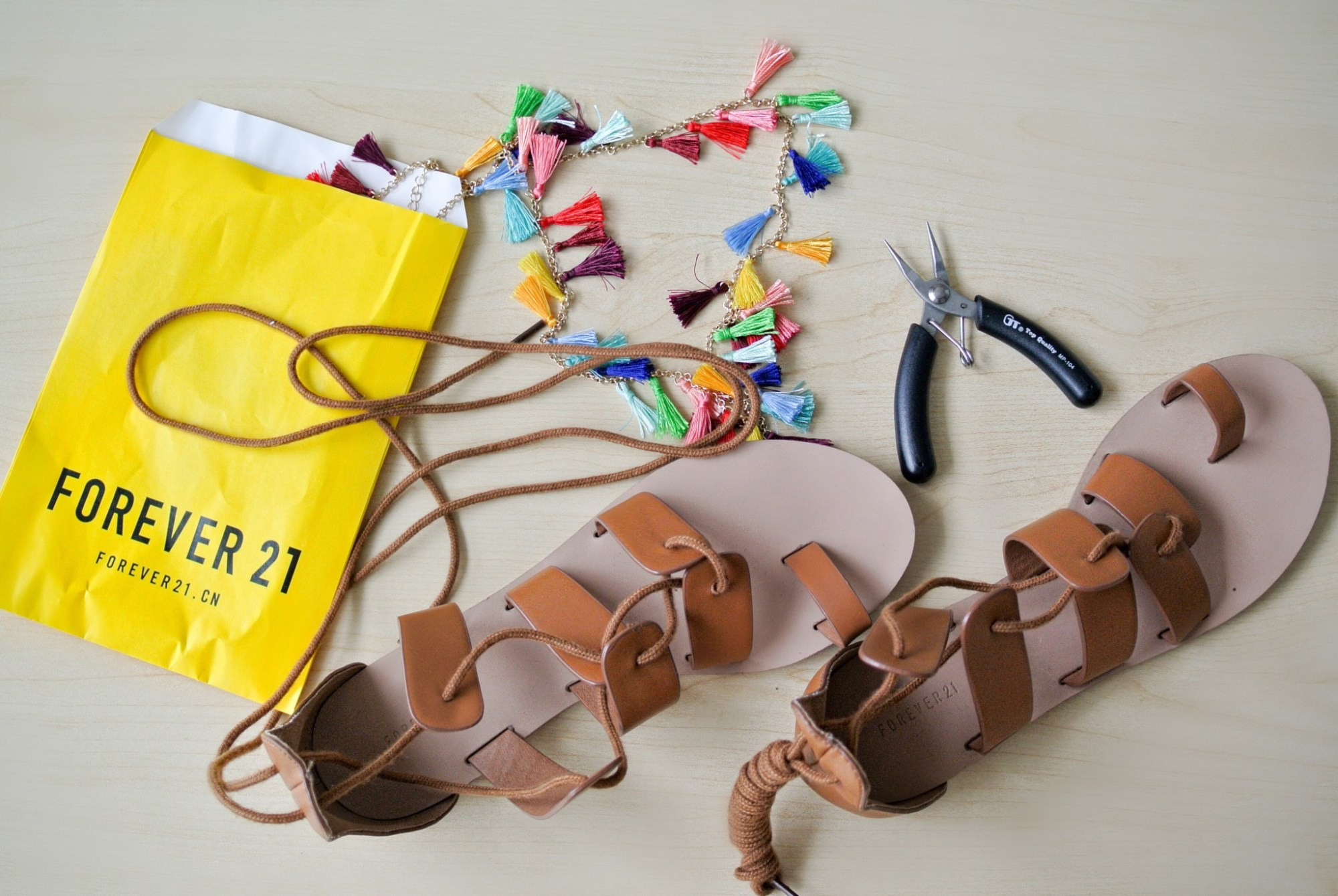 DIY Tassel Sandals 3