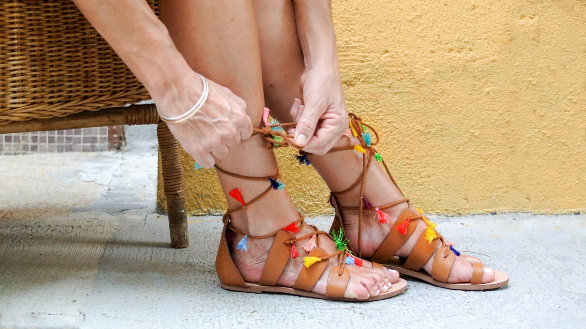DIY Tassel Sandals 5