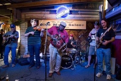 Joe Hall playing at the Blue Moon Saloon in Lafayette