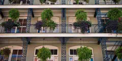 Beautiful ironwork in the French Quarter of New Orleans