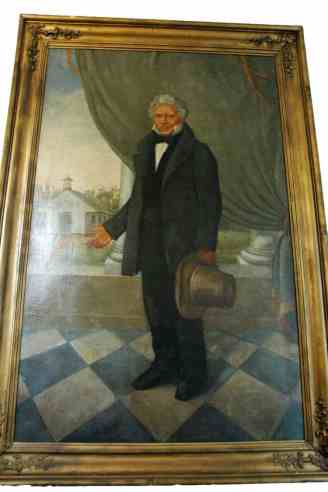 A painting of Nicolas Augustin Metoyer in the Church of St. Augustine community