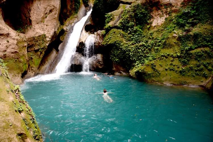Bassin Blue waterfal - One of Haiti's Hidden Treasures.