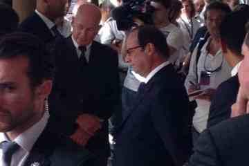 Le président de la République François Hollande à l'île de La Réunion