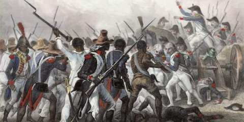 Battle of Vertieres in 1803.