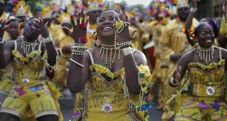 Fort de France, Martinique. Street carnival, 4 days event with