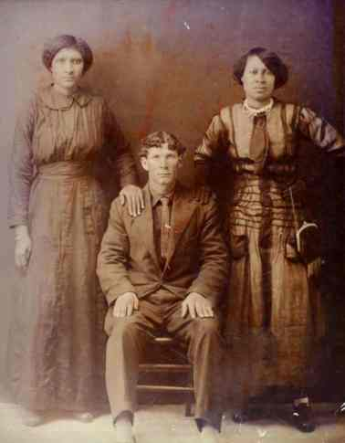 Joseph McKintyre with his wife Clarencia and sister-in-law