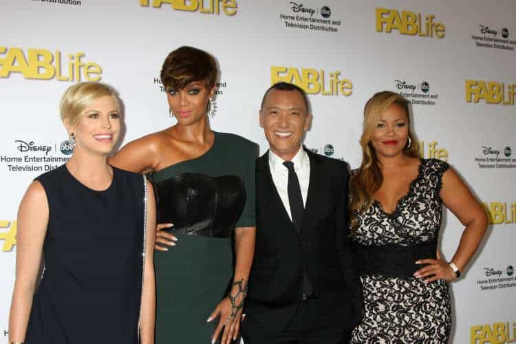 FABLife Cast (left), Tyra Banks (second from left) at the ABC TCA Summer Press Tour Party at the Beverly Hilton Hotel in Beverly Hills, CA