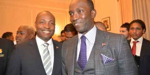 Brian Lara and Dwight Yorke