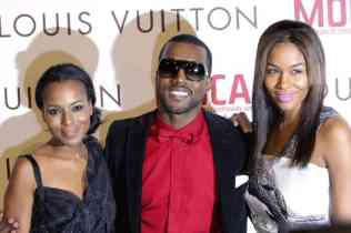 Kerry Washington (left) and Kanye West (centre)