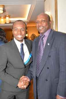 Minister of Tourism, Hon. Dominic Fedee. St Lucia's new High Commissioner to London, Guy Mayers