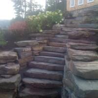 Fieldstone Boulder Steps