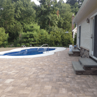 Pavers around Pool