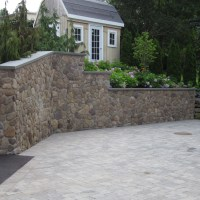 Paver Parking Area/Fieldstone Retaining Walls & Planters