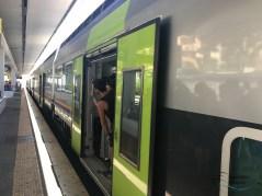 Zugfahrt nach Rom