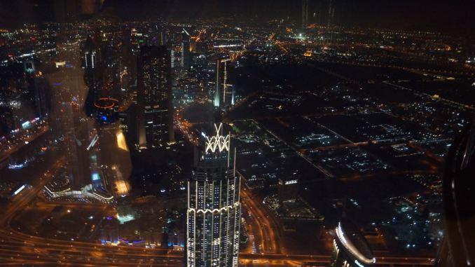 Ausblick vom Burj Khalifa auf Dubai