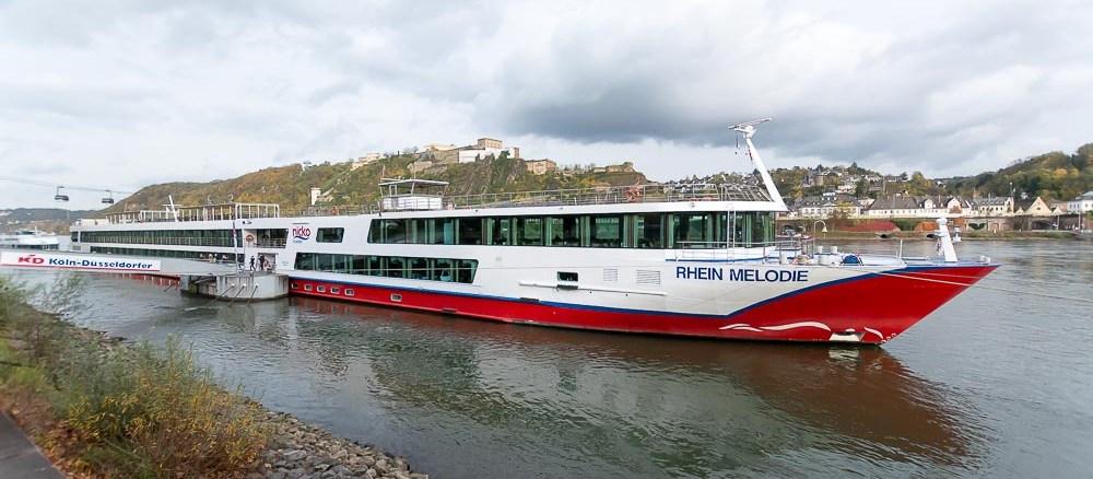 Die MS Rhein Melodie in Koblenz