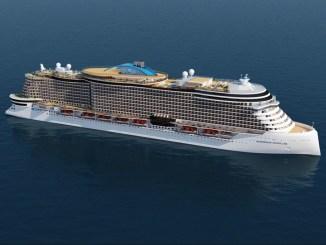 So sollen die Schiffe der Leonardo-Klasse aussehen. Grafik: Norwegian Cruise Line