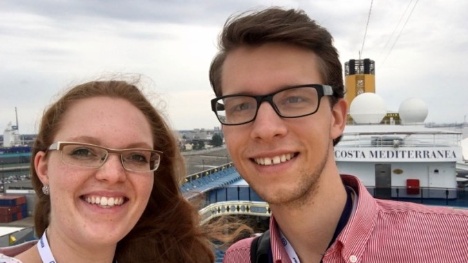 An Bord der Costa Mediterranea beim InstaWalk