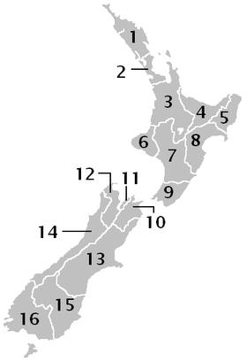Regionen Neuseelands