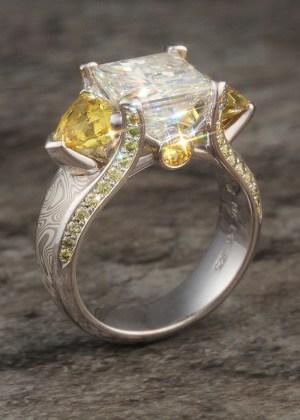 Juicy Mokume Engagement Rings