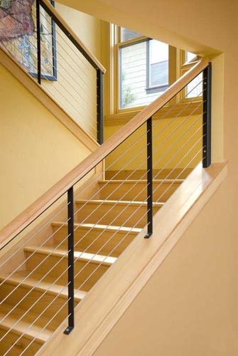 What Does It Cost Glass Handrail | Cable Stair Railing Diy