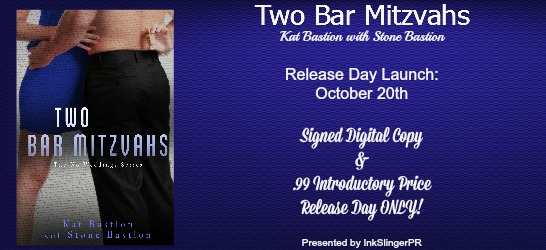 RELEASE BLITZ & GIVEAWAY: TWO BAR MITZVAHS by Kat Bastion & Stone Bastion