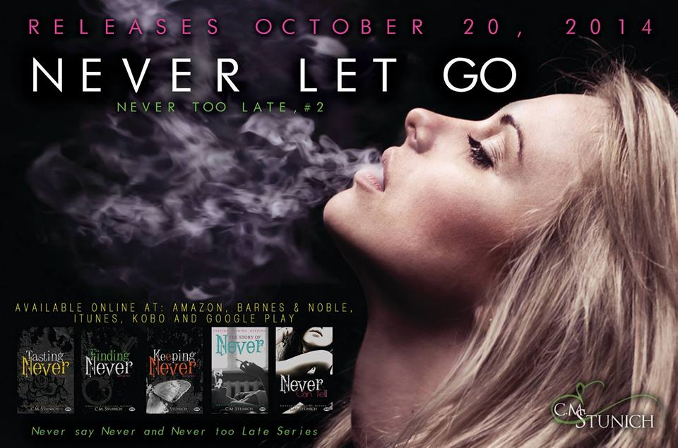 Cover Reveal: Never Let Go by C.M. Stunich