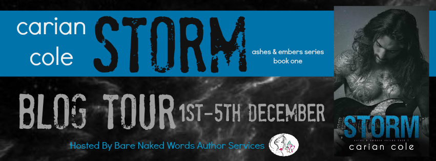 BLOG TOUR, GIVEAWAY & REVIEW: STORM by Carian Cole
