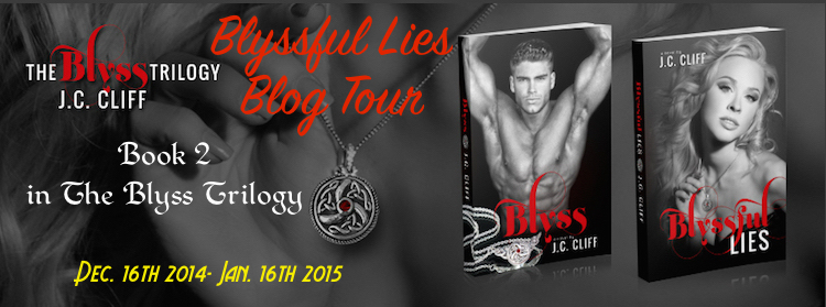 Blyssful lies blog tour banner