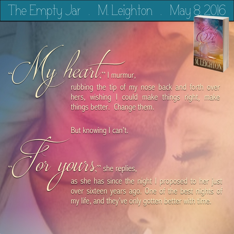COVER REVEAL: THE EMPTY JAR by M. Leighton