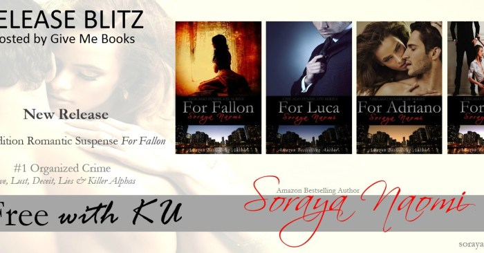 2nd EDITION RELEASE & GIVEAWAY: FOR FALLON by Soraya Naomi
