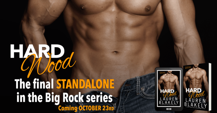 COVER REVEAL: HARD WOOD by Lauren Blakely