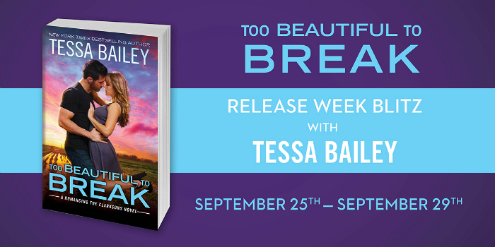 REVIEW & Q&A: TOO BEAUTIFUL TO BREAK by Tessa Bailey