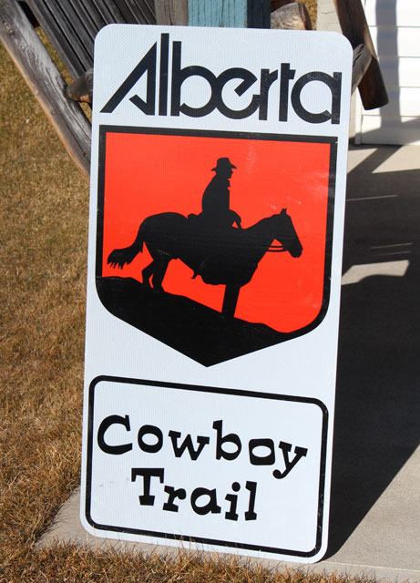 The Cowboy Trail Reflective Highway Sign