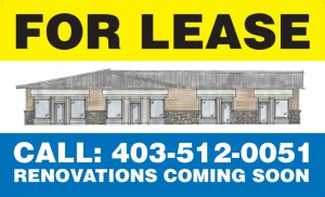 Real Estate For Lease Sign - Fernie