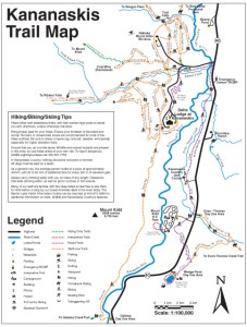 Kananaskis Country Trail Map