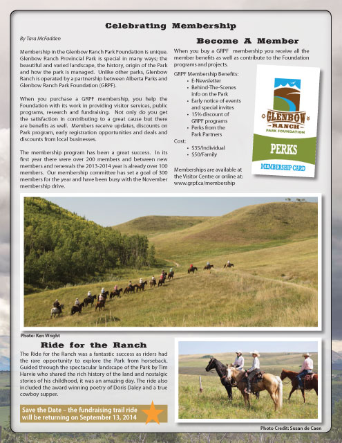 The Glenbow Ranch Park Foundation (9 issues)