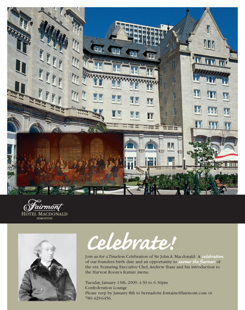 Fairmont Hotel MacDonald Email Newsletter
