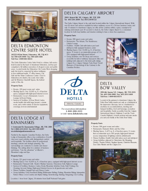 Delta Hotels Regional Sales Kit