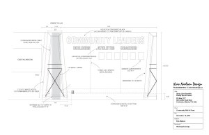 Spray Lake Sawmills Family Sports Centre Community Wall Working Drawings