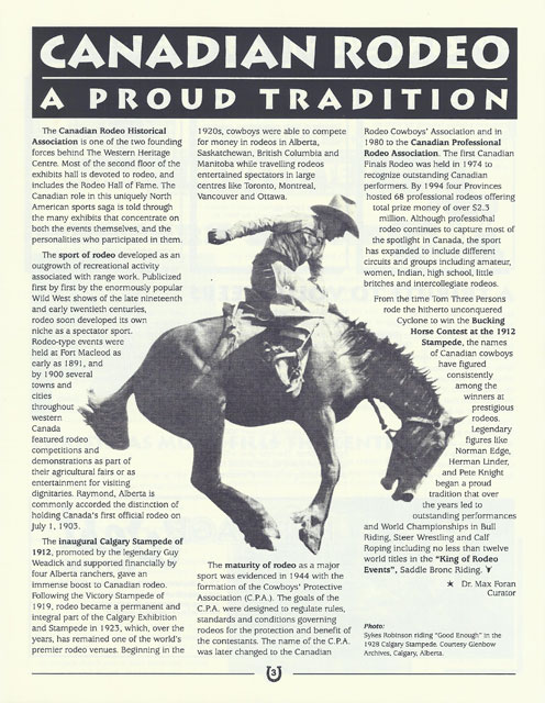 The Western Heritage Centre (54 issues - scanned from hard copy)
